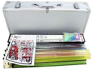 4 Pushers + Brand New Complete American Mahjong Set in Aluminum Case, 166 Tiles(mah Jong Mah Jongg Mahjongg)