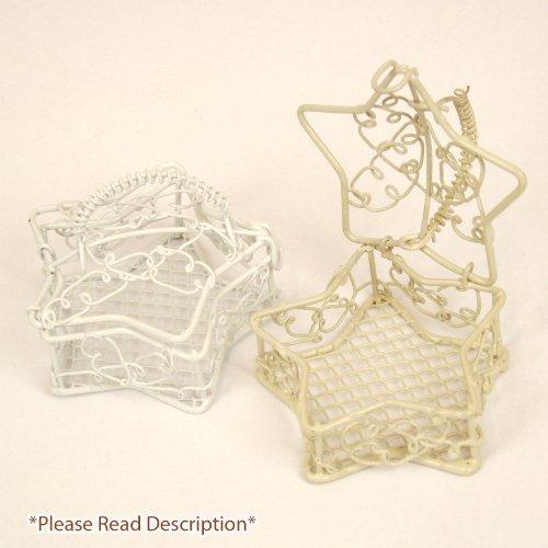 Meena Supplies Metal Star Case Favour Bird Cage - Wedding Decoration - Pail / Bucket / Basket (1, Mix)