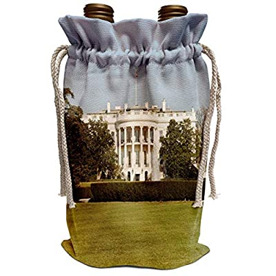 3dRose Danita Delimont - Washington DC - USA, Washington DC, White House, US Presidential home - US09 LFO0160 - Lee Foster - Wine Bag (wbg_143513)