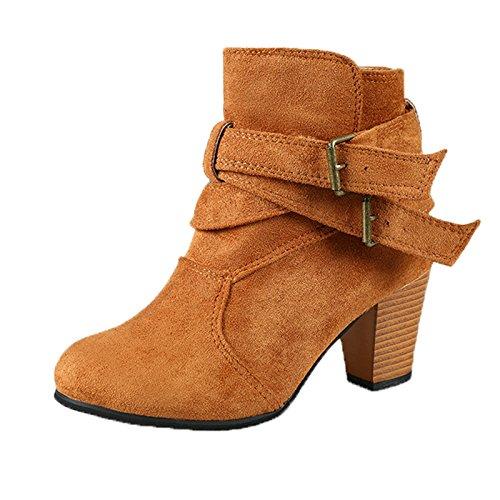 Beladla Zapatos De Mujer Botines Cortos Tobillo CóModo Botas Navidad Botines Zapatos De Invierno Tacones: Amazon.es: Zapatos y complementos