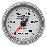 Auto Meter 4991 Ultra-Lite II 2-1/16'' 8-18V Full Sweep Electric Voltmeter