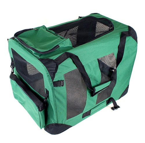 """New 40"""" Dog Pet Foldable Portable Soft Crate/Tent (Size: 40""""x28""""x28"""". Color: Green)"""