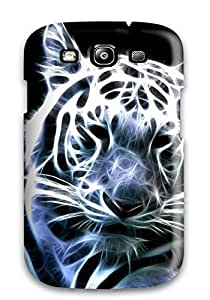 Protective Tpu Case With Fashion Design For Galaxy S3 (white Bengal Tiger )