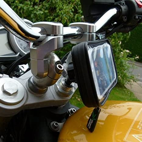 Buybits 17 5 20 5mm Motorrad Gabel Vorbau Befestigung Für Samsung Galaxy S5 Elektronik