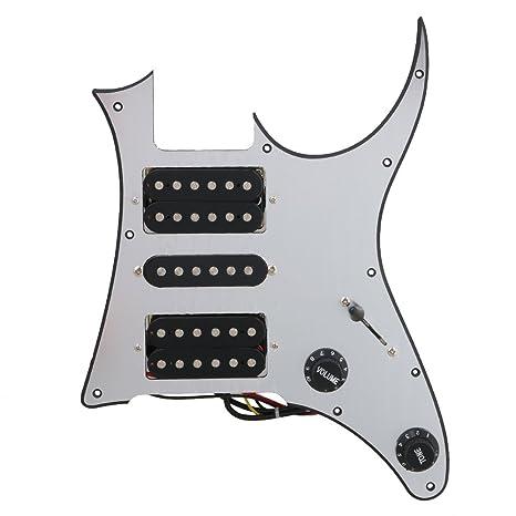 BQLZR 290 x 220 x 4 mm plata HSH Guitarra eléctrica golpeador precableado para pastilla para