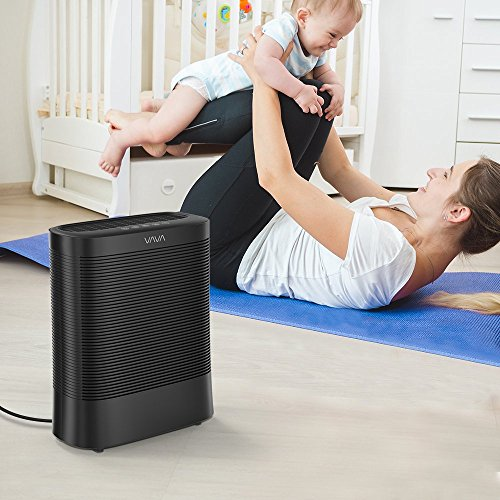 VAVA Air Purifier, Purifier with 3-in-1 True HEPA, Home Air Filter System with UV-C Light, Silent Operation & Auto - Black