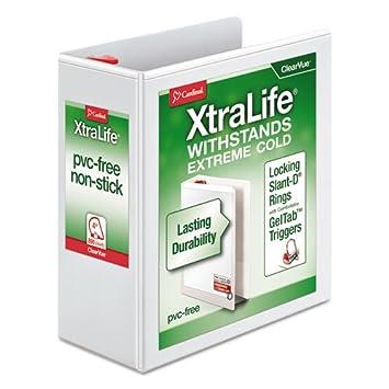 XtraLife ClearVue - Archivador de anillas antideslizante con ...