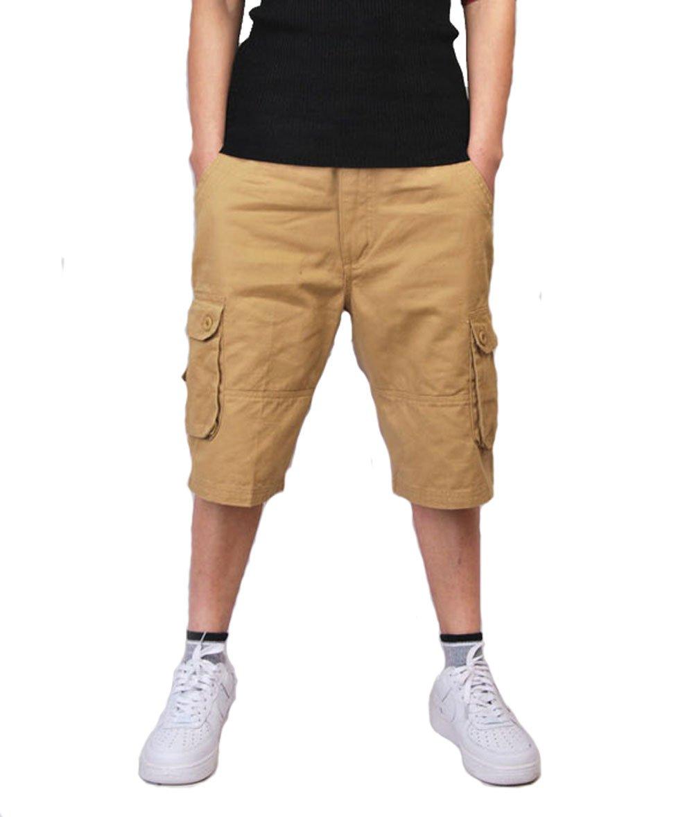 Tonwhar Men's Anytime Outdoor Capri Pant Denim 3/4 Length Short short047