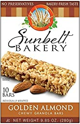 Sunbelt Bakery: Golden Almond Chewy Granola Bars (4 Boxes)