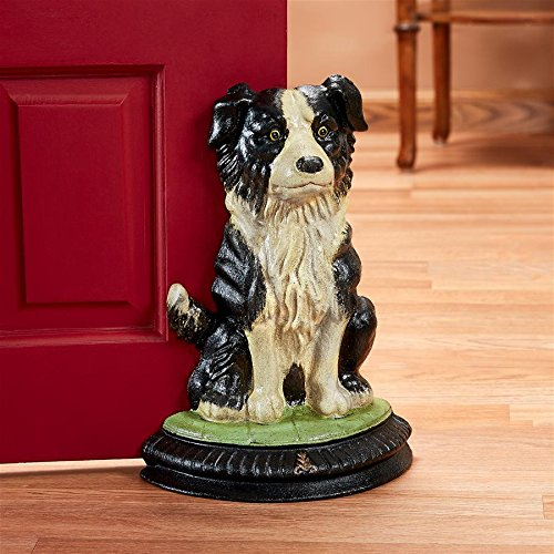 Border Collie Statue - Design Toscano Border Collie Dog Doorstop Statue