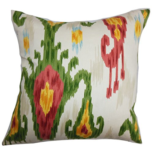 The Pillow Collection Talisha Ikat Bedding Sham Green Pink, European/26 x ()
