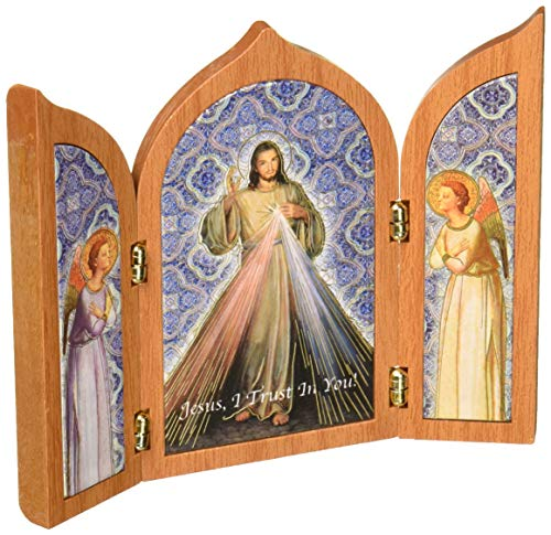 WJ Hirten 453-123 Divine Mercy Tri-Fold Plaque ()