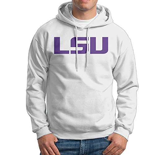[UFBDJF20 Louisiana State University LSU Men's HoodiesWhite S] (Lsu Mascot Costume)