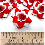 100-Silk-White-Red-Roses-Flower-Head-175-Artificial-Flowers-Heads-Fabric-Floral-Supplies-Wholesale-Lot-for-Wedding-Flowers-Accessories-Make-Bridal-Hair-Clips-Headbands-Dress