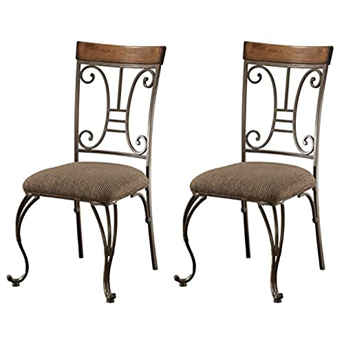 Ashley Furniture Signature Design   Plentywood Dining Room Chair   Set Of 4    Metal And Wood