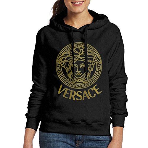 (Lonekit Women's Versace Logo Hooded Sweatshirt )