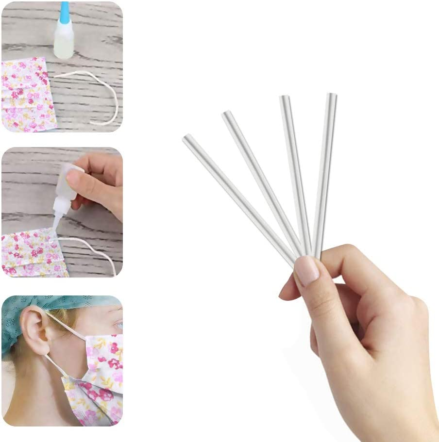 6Meter Elastic Band 10Pcs Nose Bridge Sewing Set 7 Pieces Cotton Fabric by The Yard Sewing Fabrics Patchwork Fabric DIY Cotton Clloth 25 25cm Pink