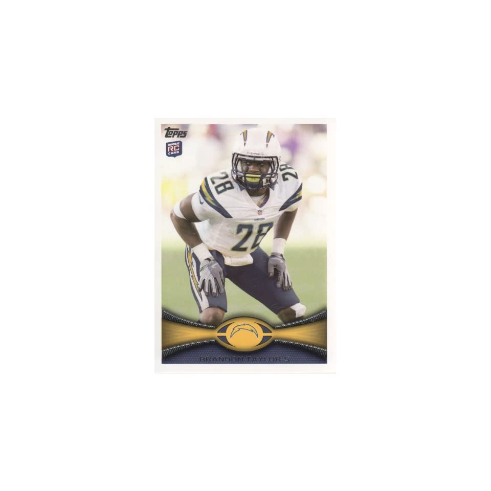 2012 Topps Football #427 Brandon Taylor RC San Diego Chargers NFL Rookie Trading Card