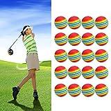 Kangnice 20 40 80 100pcs Rainbow Foam Sponge Indoor Practice Golf Balls Training Ball Golf Clubs Equipment Dia.40mm