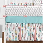 Sweet-Jojo-Designs-9-Piece-Feather-Baby-Girls-Crib-Bedding-Set-with-Bumper