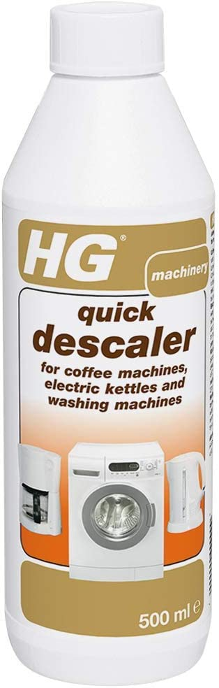 HG 174050106 Quick Descaler 500 ml - for Coffee Machines, Kettles and Washing Machines - Removes Scale and Limescale Effectively