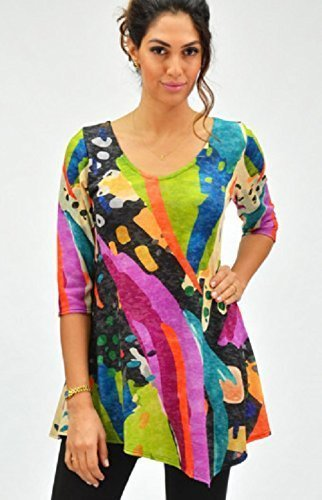 The Poet women's 3/4 sleeve tunic by Amma Design