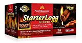 Pine Mountain StarterLogg Select-A-Size Firestarting Blocks, 24 Starts Firestarter Wood Fire Log for Campfire, Fireplace, Wood Stove, Fire Pit, Indoor & Outdoor Use