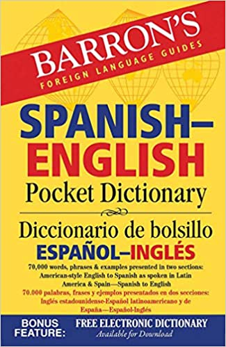 Barron S Spanish English Pocket Dictionary 70 000 Words Phrases Examples Presented In Two Sections American Style English To Spanish Spanish To English Barrons Educational Series 9781438006109 Amazon Com Books