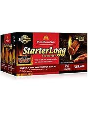 Pine Mountain StarterLogg Select-A-Size Firestarting Blocks, 24 Starts Firestarter Wood Fire Log for Campfire, Fireplace, Wood Stove, Fire Pit, Indoor & Outdoor Use