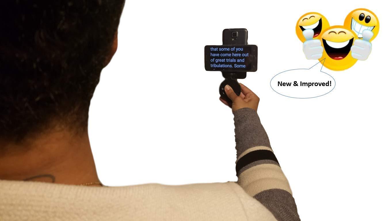 Kit básico para Smartphone Teleprompter para Youtubers y Pro vídeo presentaciones: portátil para pantalla plana o soporte de libro con 2-in-1-usb Cable: ...