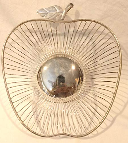 Silver Plated Apple Basket, Wm. A. Rogers Apple Basket, Bread Basket, 10