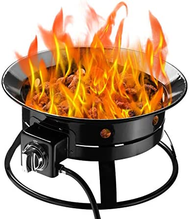 Klismos Outdoor Fire Pit Gas Propane 52000BTU Enamel Fire Bowl