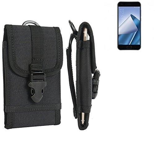bolsa del cinturón / funda para Asus ZenFone 4, negro   caja del teléfono cubierta protectora bolso - K-S-Trade (TM)
