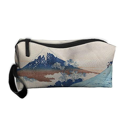 (EWSDa Hokusai Mount Fuji Japan Cosmetic Bag Unisex Multifunctional Receiving Bag )