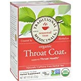 Cheap Traditional Medicinals Organic Throat Coat Herbal Tea – Caffeine Free – 16 Bags – 100% Organic – Clinically Tested