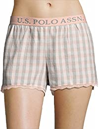 Womens Elastic Waistband Lounge/Pajama Sleep Shorts