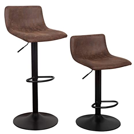 Cool Waytrim Adjustable Bar Stools Set Of 2 Modern Swivel Barstools Chairs 360 Degree Swivel Counter Height Chair For Bar Kitchen Indoor Outdoor Use Machost Co Dining Chair Design Ideas Machostcouk