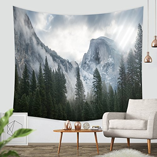 pestry, ZBLX Forest Tapestry Wall Hanging Art Sets for Home Decor(51.2