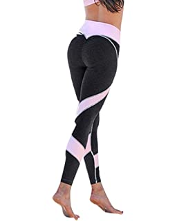 3485ad3f1a051 Women's Stretch Athletic Gym Yoga Pants Casual High Waist Elastic Trousers  Activewear Tights Running Workout Sports