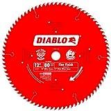 Freud D1280X Diablo 12-Inch 80 Tooth ATB Crosscutting Saw Blade with 1-Inch Arbor