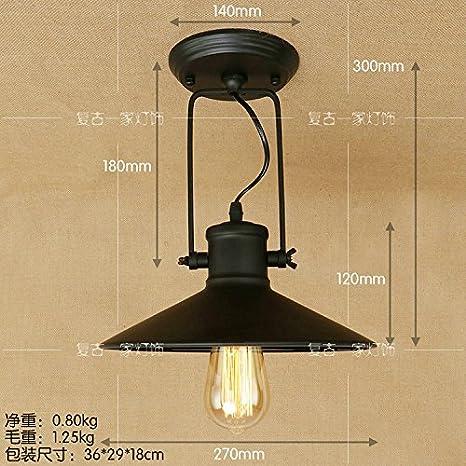 Leihongthebox El arte moderna de hierro LED Lámparas de ...