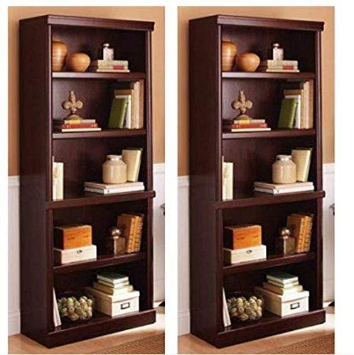 Better Homes and Gardens Ashwood Road 5-Shelf Bookcase Cherry, Set of 2 + Furniture Polish