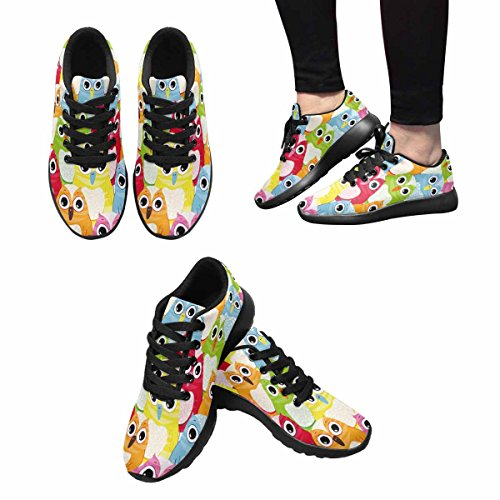 InterestPrint Women's Go Easy Walking Comfort Sports Athletic Shoes Owl Birds US 7 by InterestPrint (Image #1)