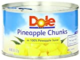 Dole Pineapple Chunks in Juice, 8-Ounce Cans (Pack of 24)
