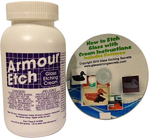 Armour Etch Glass Etching Cream, 22-Ounce: Includes Free How to CD & Patterns by Armour Etch