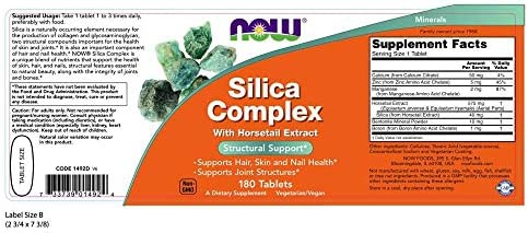 Now Supplements, Silica Complex, 180 Tablets