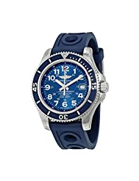 Breitling Superocean II 42 Automatic Blue Rubber Mens Watch A17365D1-C915