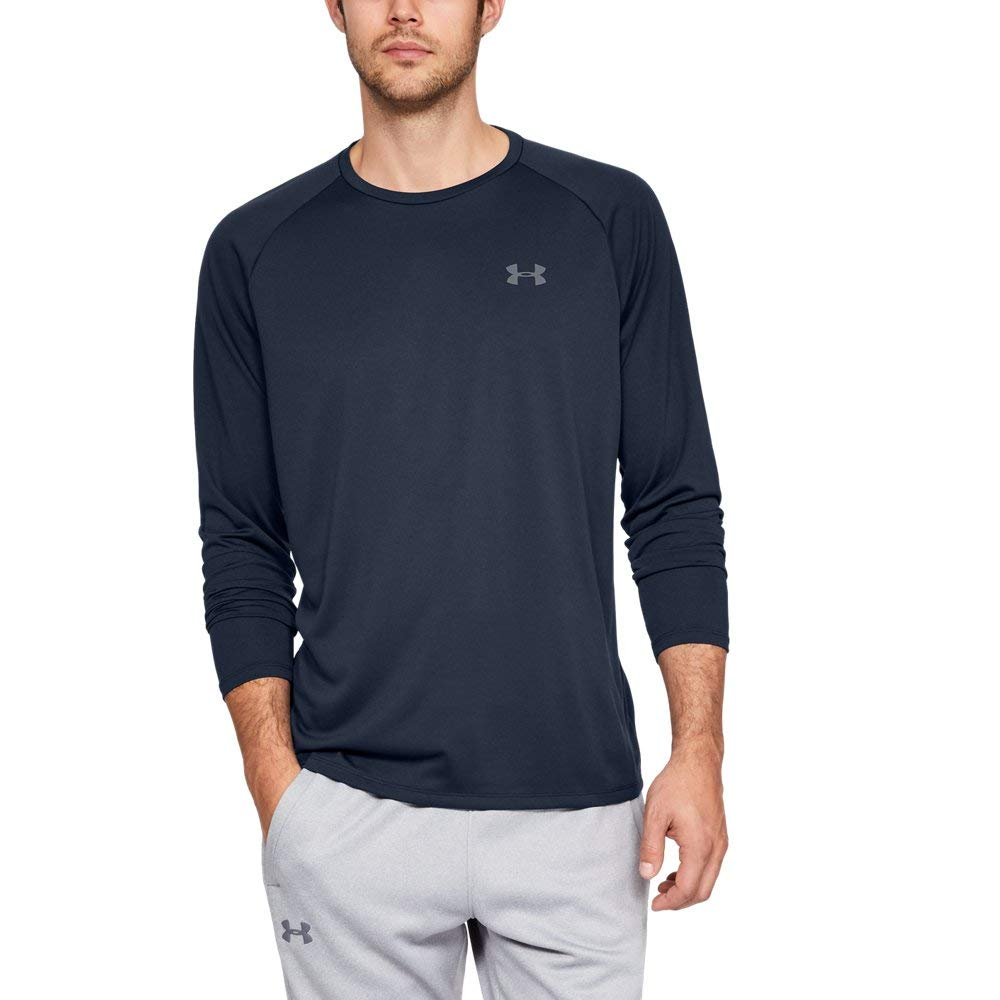 Under Armour Men's Tech Long Sleeve Shirt, Academy (408)/Steel, Small