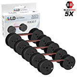 LD Compatible Data Supply R3027 Set of 5 Black and Red Printer Ribbons