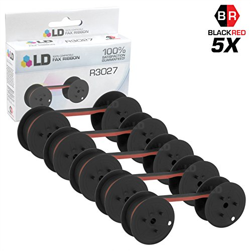 LD Compatible Data Supply R3027 Set of 5 Black and Red Printer Ribbons by LD Products